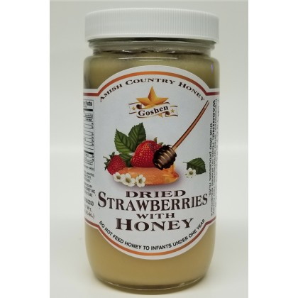 Dried Strawberries with Honey 1 LB