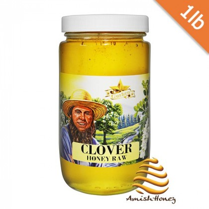 Clover Honey Raw 1lb