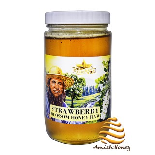 Strawberry Raw Honey 1lb